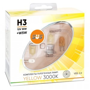 SVS H3 Yellow 3000K Ver.2 +W5W - 020.0094.000