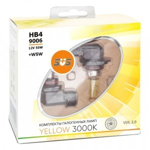 SVS HB4 Yellow 3000K Ver.2 +W5W