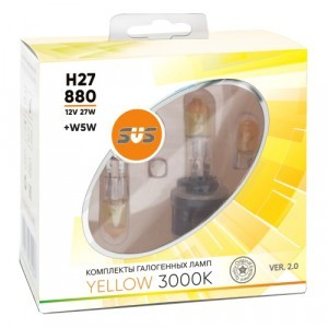 SVS H27/880 Yellow 3000K Ver.2 +W5W - 020.0100.000
