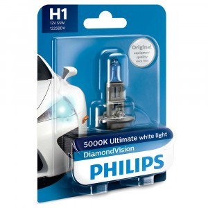 Галогеновая лампа Philips H1 DiamondVision - 12258DVB1 (блистер)