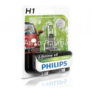 Philips H1 LongLife EcoVision - 12258LLECOB1 (блистер)
