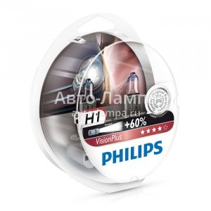 Philips H1 VisionPlus (+60%) - 12258VPS2 (пласт. бокс)