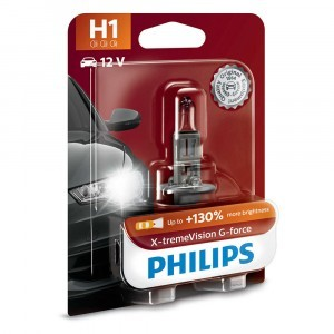 Галогеновая лампа Philips H1 X-tremeVision G-force (+130%) - 12258XVGB1 (блистер)