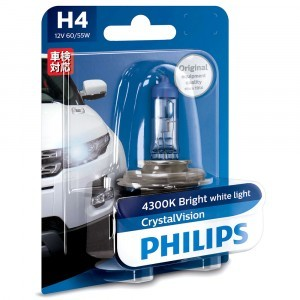 Philips H4 CrystalVision - 12342CVB1 (блистер)