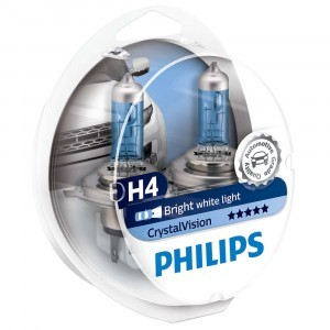 Philips H4 CrystalVision - 12342CVSM (пласт. бокс)