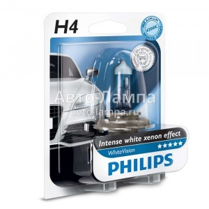 Philips H4 WhiteVision - 12342WHVB1 (блистер)