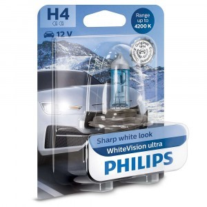 Philips H4 WhiteVision Ultra - 12342WVUB1 (блистер)