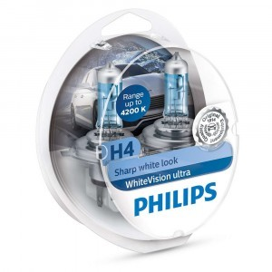 Philips H4 WhiteVision Ultra - 12342WVUSM (пласт. бокс)