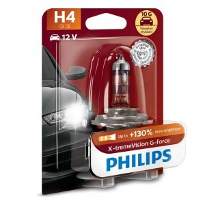 Philips H4 X-tremeVision G-force (+130%) - 12342XVGB1 (блистер)
