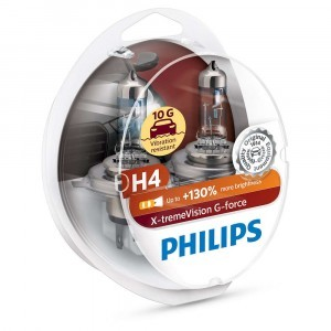 Philips H4 X-tremeVision G-force (+130%) - 12342XVGS2 (пласт. бокс)