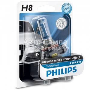 Philips H8 WhiteVision (+60%)