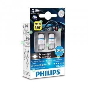W5W Philips X-Treme Vision (+400%)
