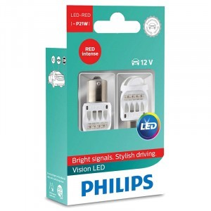 Светодиоды Philips P21W Vision LED Red - 12839REDX2