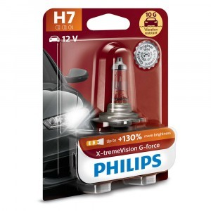 Philips H7 X-tremeVision G-force (+130%) - 12972XVGB1 (блистер)