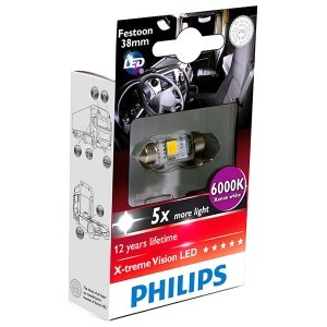 Светодиод Philips Festoon X-Treme Vision LED 24V 38 мм - 249446000KX1