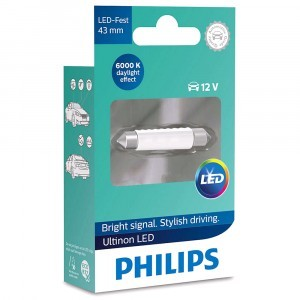 Светодиод Philips Festoon Ultinon LED 43 мм - 11864ULWX1