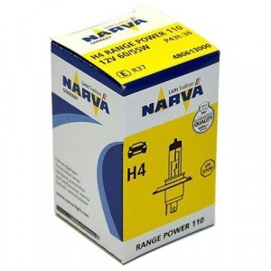 Narva H4 Range Power 110 - 480613000 (карт. короб.)