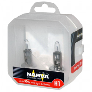 Комплект галогеновых ламп Narva H1 Range Power 50+ - 483342100 (пласт. бокс)