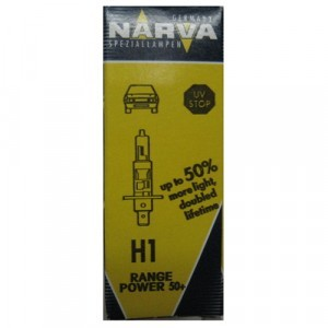 Галогеновая лампа Narva H1 Range Power 50+ - 483343000 (карт. короб.)