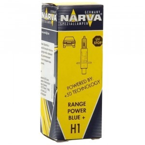 Галогеновая лампа Narva H1 Range Power Blue+ - 486303000 (карт. короб.)