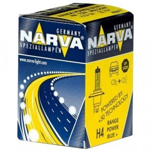 Narva H4 Range Power Blue+ - 486773000 (карт. короб.)