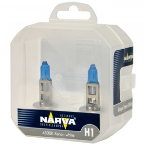 Комплект галогеновых ламп Narva H1 Range Power White - 486412100 (пласт. бокс)