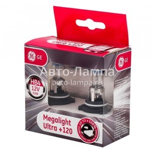 HB4 General Electric Megalight Ultra +120% (2 лампы - картон)