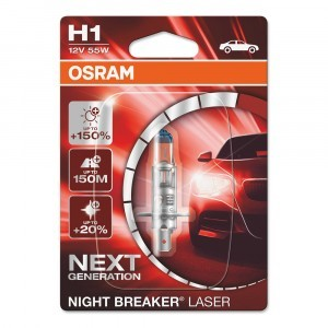 Osram H1 Night Breaker Laser Next Generation - 64150NL-01B (блистер)