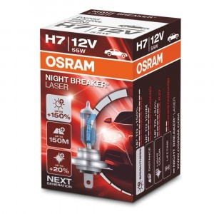 Галогеновая лампа Osram H7 Night Breaker Laser Next Generation - 64210NL (карт. короб.)