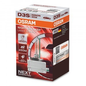 Osram D3S Xenarc Night Breaker Laser (+200%) - 66340XNL (карт. короб.)