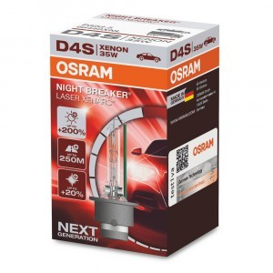 Osram D4S Xenarc Night Breaker Laser (+200%) - 66440XNL (карт. короб.)
