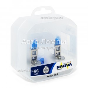 Комплект галогеновых ламп Narva H1 Range Power White - 980142100 (пласт. бокс +)