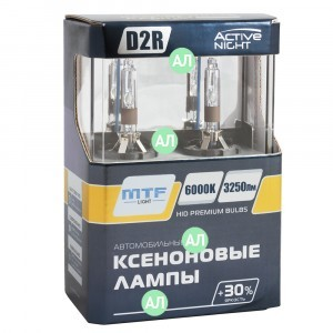 Комплект ксеноновых ламп MTF-Light D2R Active Night - AS6D2R (6000K)