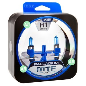 Комплект галогеновых ламп MTF-Light H1 Palladium - HPA1201