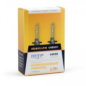 Комплект ксеноновых ламп MTF-Light H7 Absolute Vision - AVBH07