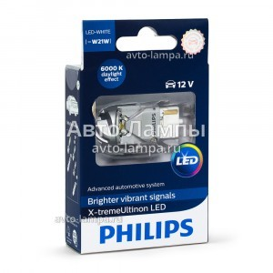 Светодиоды Philips W21W X-treme Ultinon LED