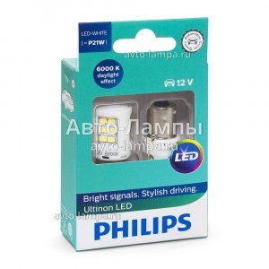 Philips P21W Ultinon LED White - 11498ULWX2