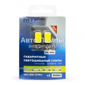 MTF-Light W5W COB 270LM - COB55T10 (хол. белый)