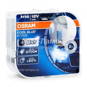Комплект галогеновых ламп Osram H16 Cool Blue Intense (+20%) - 64219CBI-HCB (пласт. бокс)