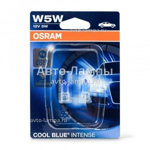 Osram W5W Cool Blue Intense (+20%) - 2825HCBI-02B (блистер)