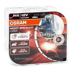 Osram H4 Night Breaker Laser (+130%) - 64193NBL-HCB (пласт. бокс)