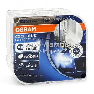Osram D1S Cool Blue Intense (+20%) - 66140CBI-HCB (пласт. бокс)