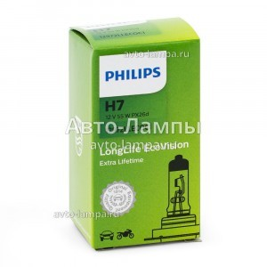 Philips H7 LongLife EcoVision - 12972LLECOC1 (карт. короб.)