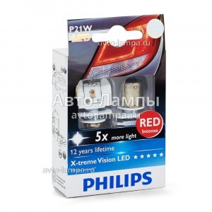 Philips P21W X-Treme Vision LED Red - 12898RX2