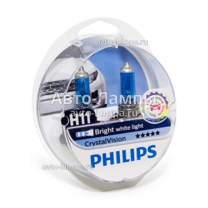Philips H11 CrystalVision - 12362CVSM (пласт. бокс)