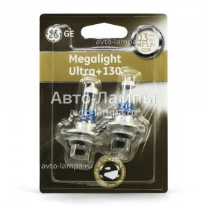 General Electric H7 Megalight Ultra +130% - 58520XNU-93033266 (блистер)