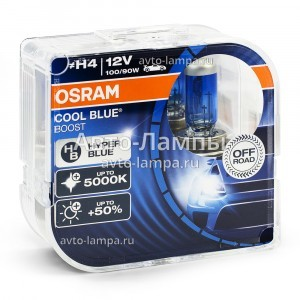 Комплект галогеновых ламп Osram H4 Cool Blue Boost - 62193CBB-HCB