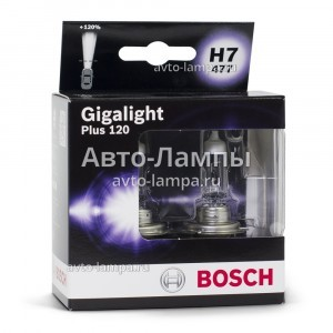 Bosch H7 Gigalight Plus 120 - 1 987 301 107 (диз. упак. x2)