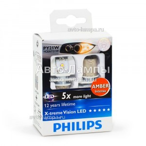 Philips PY21W X-Treme Vision LED с обманками