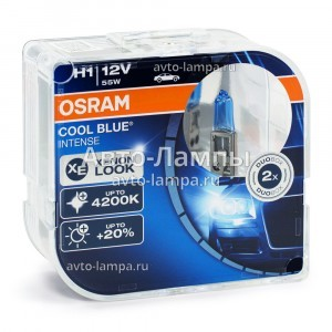 Комплект галогеновых ламп Osram H1 Cool Blue Intense (+20%) - 64150CBI-HCB (пласт. бокс)